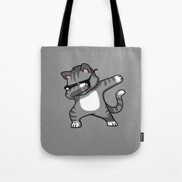 Dabbing Cat Grey Tote Bag