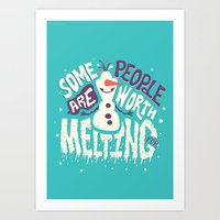 risa rodil Art Prints featuring Worth melting for by Risa Rodil