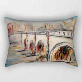 Bridge in Rome Rectangular Pillow