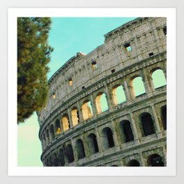 Rome Collosseum Painted  Art Print