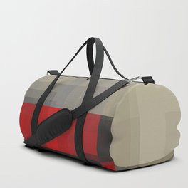 reds behind gray Duffle Bag