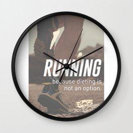 No Diet Just Running Runners Design Wall Clock