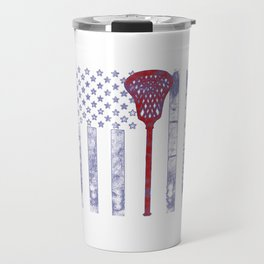 Lacrosse Flag Travel Mug
