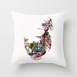 Legendary Skull Island Throw Pillow