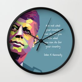 Ask what you can do for your country Wall Clock