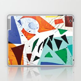Composition in Orange and Blue Laptop & iPad Skin