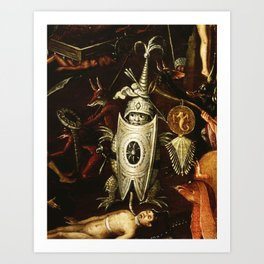 The little knight by Heironymus Bosch Art Print