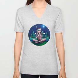 Canoe Girl Unisex V-Neck
