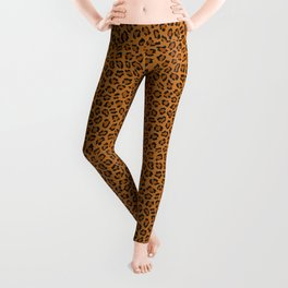 Dark leopard animal print Leggings
