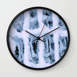 Snow Pattern Wall Clock