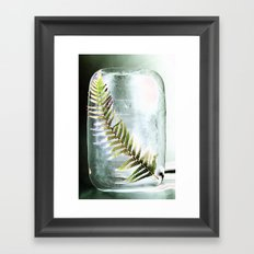 Frozen Fern Framed Art Print