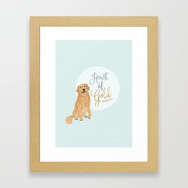 Heart of Gold // Golden Retriever Framed Art Print
