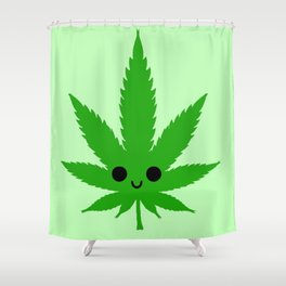kawaii weed Shower Curtain