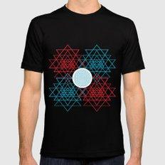 Geometrical 001  Black MEDIUM Mens Fitted Tee