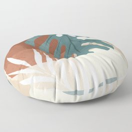 Abstract Art Tropical Leaves  Floor Pillow