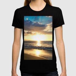 Poolenalena Beach Sunset Makena Maui Hawaii T-shirt