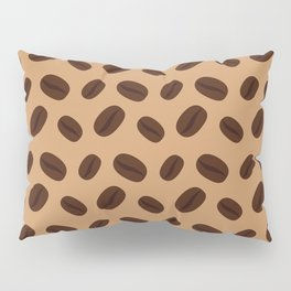Cool Brown Coffee beans pattern Pillow Sham