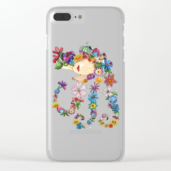 Sleeping Beauty Clear iPhone Case