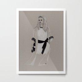 White Dress Metal Print