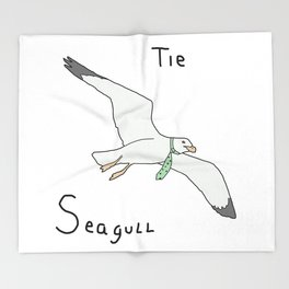 Tie Seagull Throw Blanket