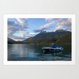 Boat Lake Annecy Art Print