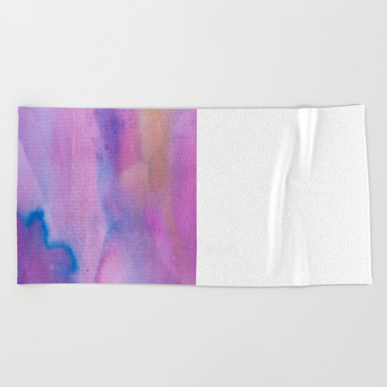 Purple Watercolour Beach Towel