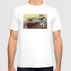 Turntablism White SMALL Mens Fitted Tee