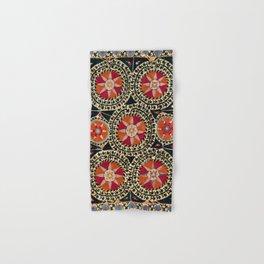 Katti Kurgan Suzani Uzbekistan Embroidery Print Hand & Bath Towel