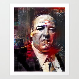 Tony Soprano Glitch Art Print