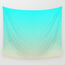 Aqua and Angelskin Tropical Paradise Island Maldives Beach Wall Tapestry