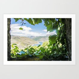 A window to the river Art Print