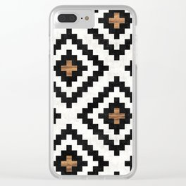 Urban Tribal Pattern 16 - Aztec - Concrete and Wood Clear iPhone Case