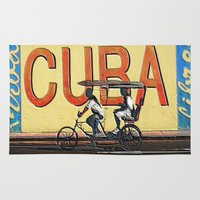cuba Area & Throw Rugs featuring Viva Cuba Libre! by Gian...