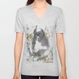 fascinating altered animals - Bonobo Unisex V-Neck