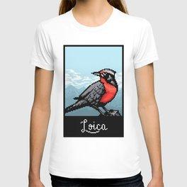 Loica bird PixelArt T-shirt