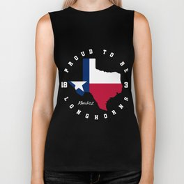 Texas proud to be longhorns, Independence Day Biker Tank