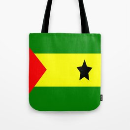 Flag of São Tomé and Príncipe Tote Bag