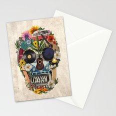 retro 70s skull Stationery Cards