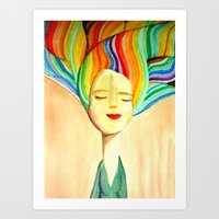 grace Art Prints featuring grace by sylvie demers