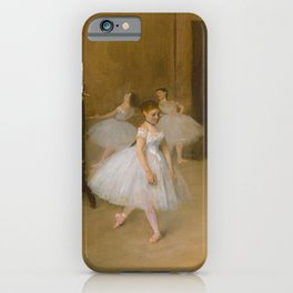 The Dancing Class by Edgar Degas, 1870 iPhone Case