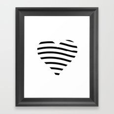 BLACK HEART Framed Art Print
