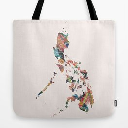 Map of the Philippines / 81 provinces Tote Bag