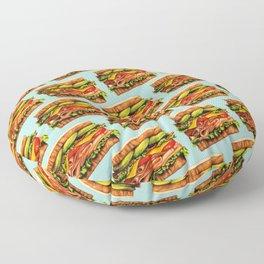 Sandwich Pattern - Turkey Floor Pillow