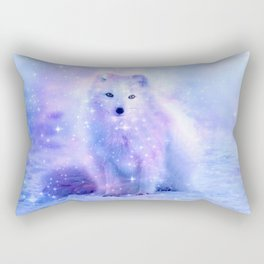 Arctic iceland fox Rectangular Pillow