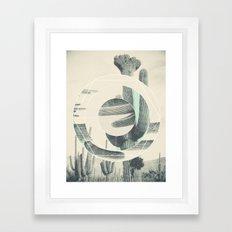 Saguaro Sun Framed Art Print