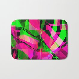 pink & lime Bath Mat