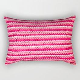 Pink Stripes Rectangular Pillow
