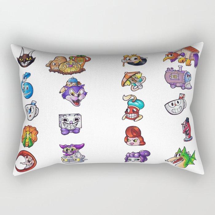 Cuphead Rectangular Pillow