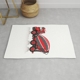 Cooper Cement Mixer - Fiery Red Rug