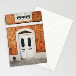 Door and tiles in Lisbon, Portugal Stationery Cards